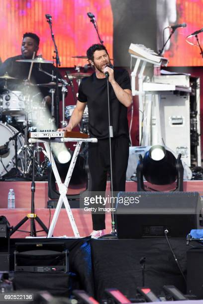 SALES free for editorial use In this handout provided by 'One Love Manchester' benefit concert Howard Donald of Take That performs on stage on June 4...