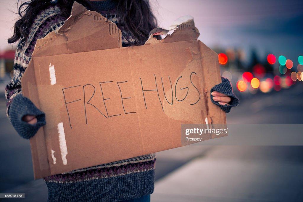 Free hugs : Stock Photo