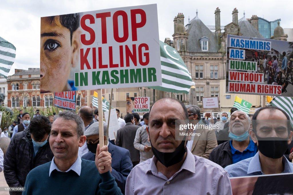 Free Kashmir Protest In Birmingham : News Photo