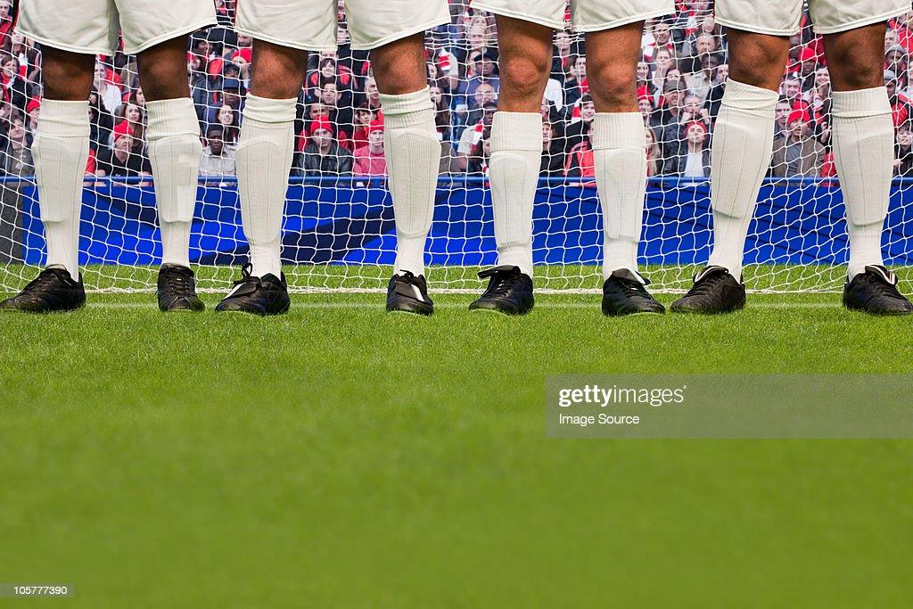Free kick during a football match : Stock Photo