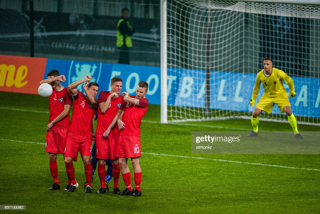 Free kick goal : Stock Photo