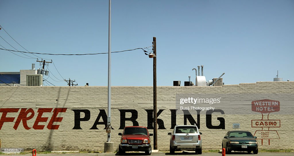 """Free parking"" sign in Las Vegas, Nevada : Foto de stock"