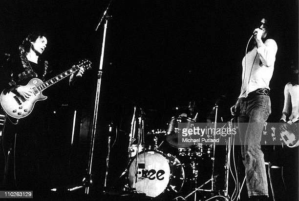 Free perform on stage in 1972 Paul Kossoff Simon Kirke Paul Rodgers