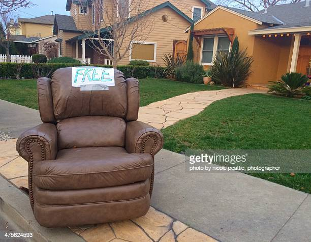 free! - reclining chair stock photos and pictures