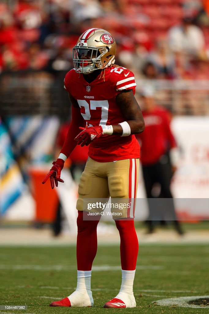 9024d232 Free safety Adrian Colbert of the San Francisco 49ers lines up for a ...