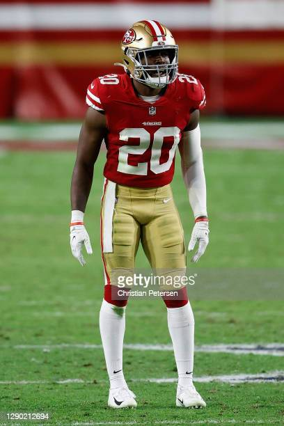 Free safety Jimmie Ward of the San Francisco 49ers during the NFL game against the Buffalo Bills at State Farm Stadium on December 07, 2020 in...