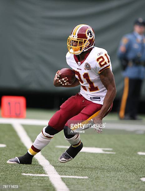 Free Safety Sean Taylor of the Washington Redskins with a return against the New York Jets at Giants Stadium The Meadowlands East Rutherford New...
