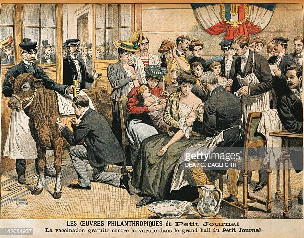 Free smallpox vaccination From Petit Journal France 20th century