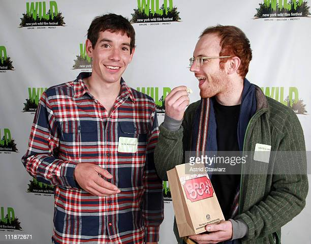 Free solo climber Alex Honnold and Alex Lowther attend the New York WILD Film Festival at Tribeca Cinemas on April 7 2011 in New York City