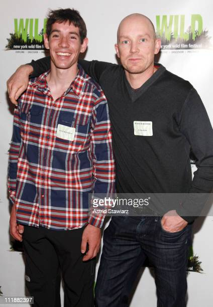 Free solo climber Alex Honnold and filmmaker Peter Mortimer attend the New York WILD Film Festival at Tribeca Cinemas on April 7 2011 in New York City