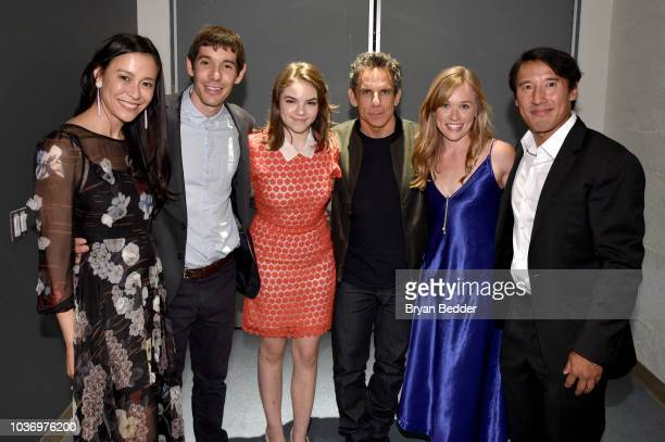 Free Solo Director and Producer Chai Vasarhelyi Featured Free Soloist Alex Honnold Ella Olivia Stiller Actor and Comedian Ben Stiller Free Solo Film...