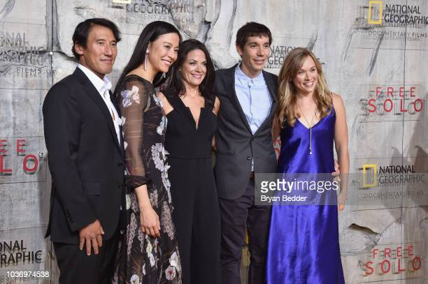 Free Solo Director Producer and Cinematographer Jimmy Chin Free Solo Director and Producer Chai Vasarhelyi CEO National Geographic Global Networks...