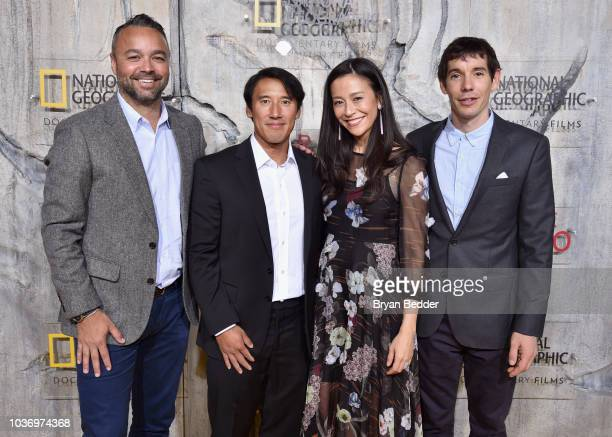 Free Solo Producer Evan Hayes Free Solo Director Producer and Cinematographer Jimmy Chin Free Solo Director and Producer Chai Vasarhelyi and Featured...