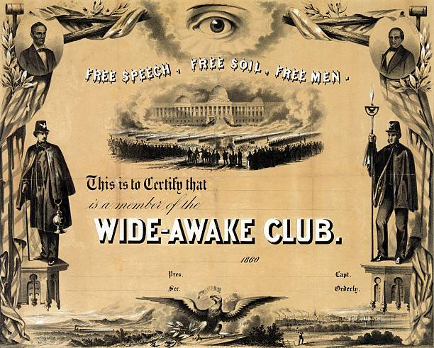 Membership certificate for the Wide-Awake Club. Pictures | Getty Images