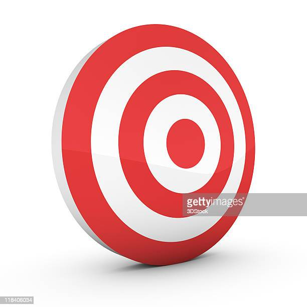 a free standing, big target sign isolated on white - target center stock pictures, royalty-free photos & images