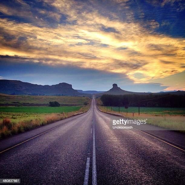 RSA, Free State, Mangaung Metropolitan Municipality, Bloemfontein, Bayswater, Clarens, Surrender Hill Sunset
