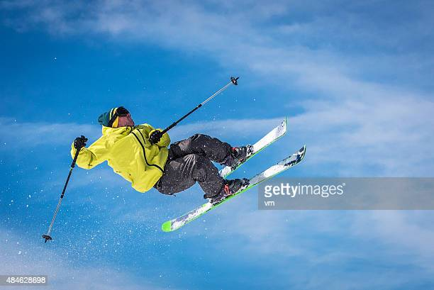 free style skiing - ski jumping stock pictures, royalty-free photos & images
