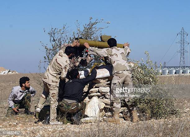 Free Syrian Army forces attack to Morik district of Hama Syria on February 20 2014 with Concorde missiles