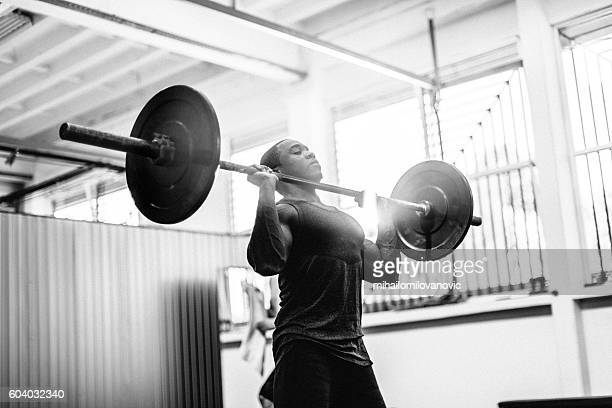 free weights workout - black male bodybuilders stock photos and pictures