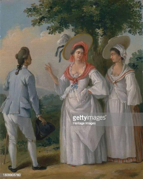 Free West Indian Creoles in Elegant Dress, ca. 1780. Artist Agostino Brunias. .