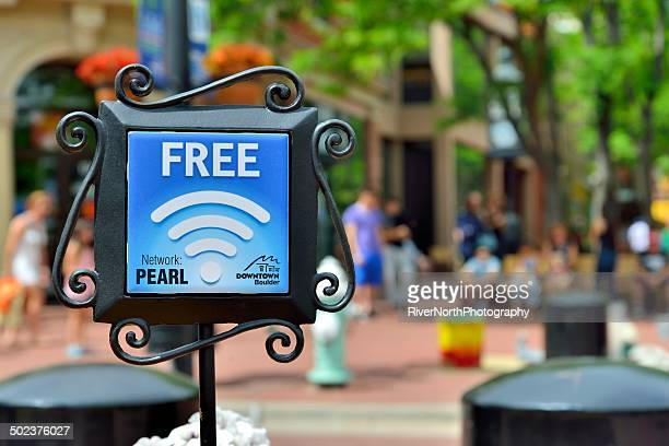 Free Wifi at Historic Pearl Street Mall in Boulder, Colorado