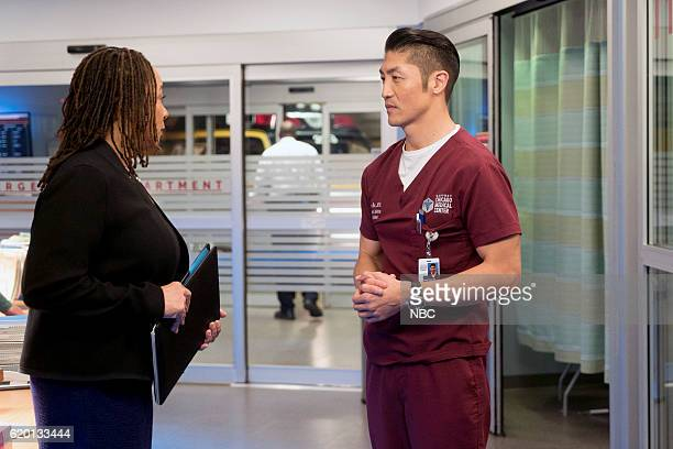 MED Free Will Episode 208 Pictured S Epatha Merkerson as Sharon Goodwin Brian Tee as Ethan Choi