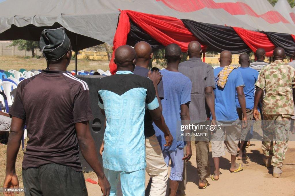 NIGERIA-MILITARY-PRISONERS : News Photo