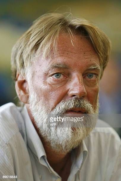Freed Swiss hostage Werner Greiner looks on during a press conference upon his arrival on July 14, 2009 at Zurich airport. Six-month hostage Greiner,...