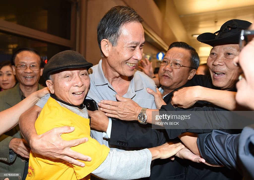 Freed vietnamese dissident nguyen van hai c is greeted upon freed vietnamese dissident nguyen van hai c is greeted upon arrival at los angeles m4hsunfo