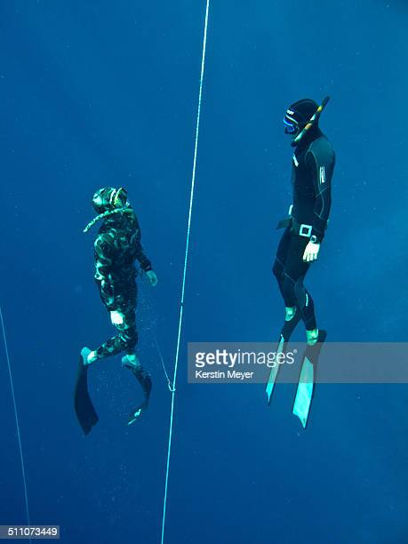 Freediving at blue hole in Dahab/Egypt