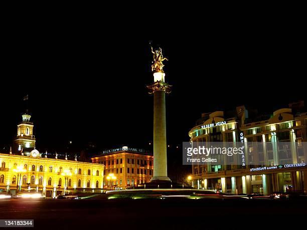 freedm square in tbilisi, georgia - frans sellies stockfoto's en -beelden