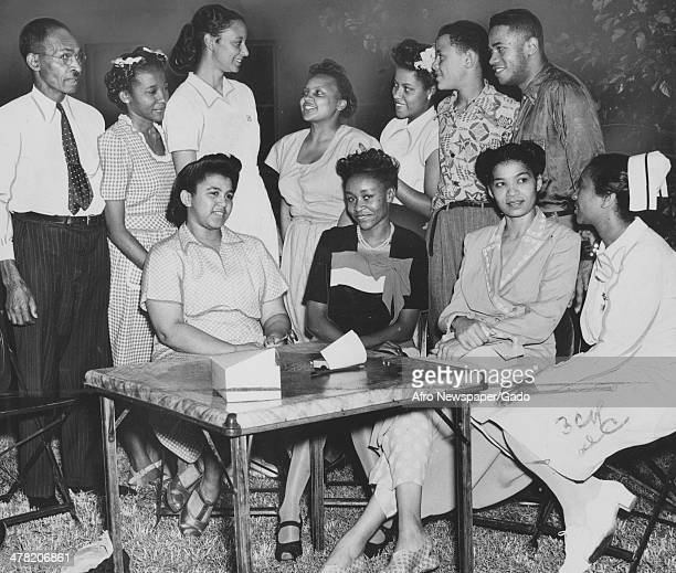 Freedman's Hospital and staff, Washington DC, July 27, 1946.