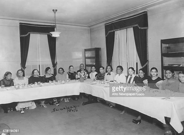 Freedmen's Hospital nurses, Washington DC, April 4, 1936. Pictured are, from left, Mary Mullen, Pauline Hall, Anna White, Dorcas Penn, Mattie...