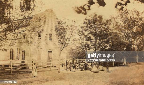 Freedmen's School, Beaufort, South Carolina, USA, Photography by Sam A. Cooley, Tenth Army Corps, late 1860's.