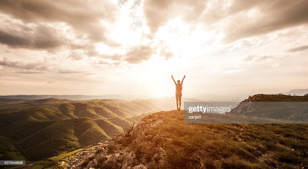 Freedom and adventure in nature : Stock Photo