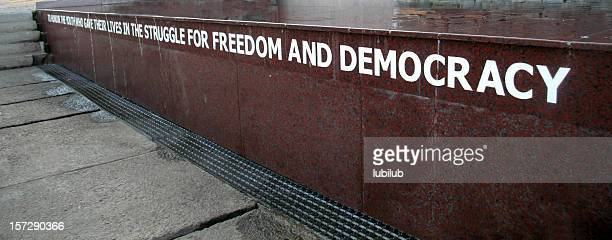 freedom and democracy from memorial in soweto, south africa - black civil rights stock pictures, royalty-free photos & images