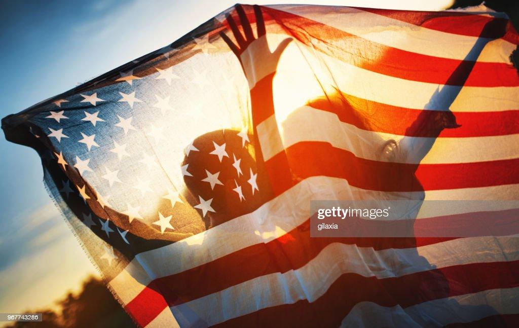 Freiheit und Liebe in den USA : Stock-Foto