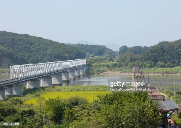 Freedom and railway bridge over Imjin river between north and south Korea North Hwanghae Province Panmunjom South Korea on September 8 2017 in...