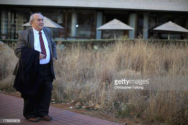 Freedom fighter Denis Goldberg talks to the media at Liliesleaf Farm the apartheidera hideout for Nelson Mandela and freedom fighters in Johannesburg...