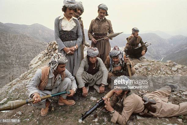 Freedom fighters camping at Khree Neozang, home to the Patriotic Union of Kurdistan guerrillas in Iraq, headed by Kurd leader Jalal Talabani.  ...