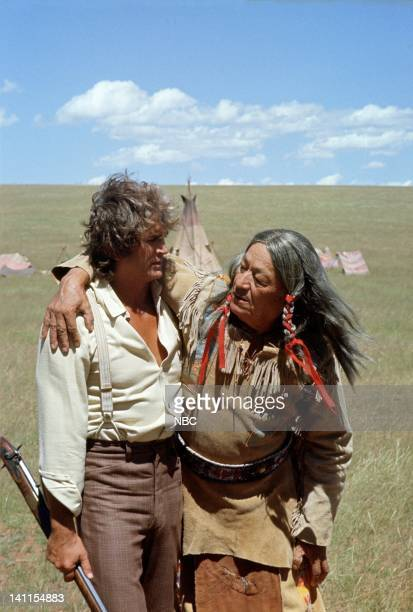 PRAIRIE 'Freedom Flight' Episode 13 Pictured Michael Landon as Charles Ingalls Chief Geronimo Kuth Le as Long Elk Photo by Ted Shepherd/NBCU Photo...