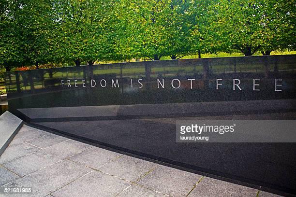 freedom is not free panel korean war memorial - korean war memorial stock photos and pictures