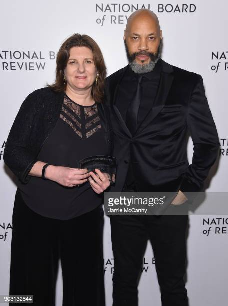 Freedom of Expression Award Winners producer Jeanmarie Condon and director John Ridley pose during the National Board of Review Annual Awards Gala at...