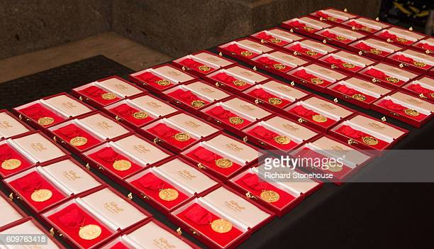 Freedom of the City of Liverpool medals are seen as the 96 victims of the Hillsborough disaster are honoured with the Freedom of the City of...