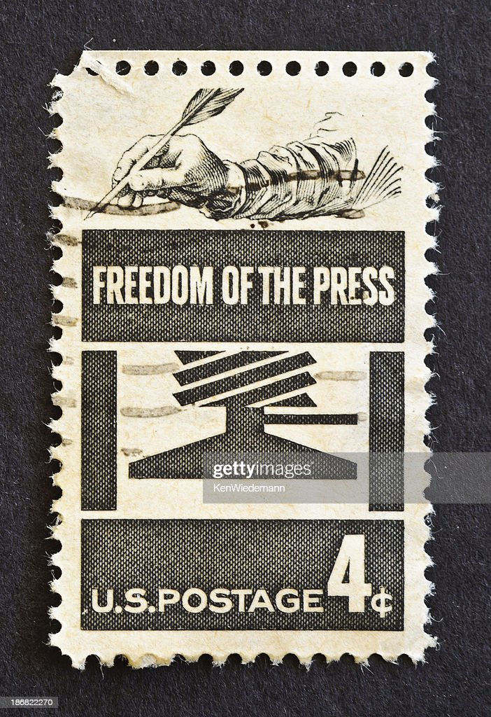 Freedom of the Press Stamp : Stock Photo