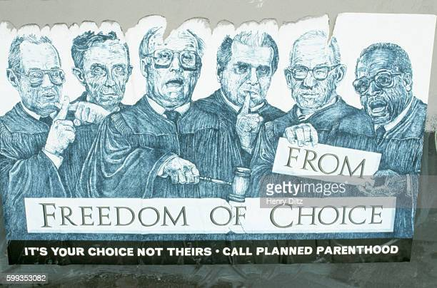 freedom of/from choice planned parenthood poster by robbie conal - supreme court justice stock pictures, royalty-free photos & images