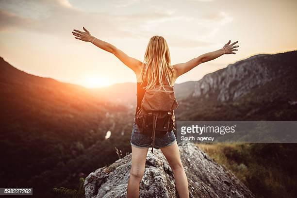 Freedom on mountain