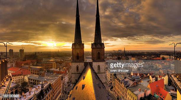freedom over halle - saxony anhalt stock pictures, royalty-free photos & images