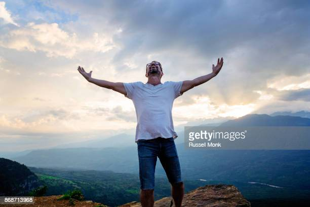 freedom - arms outstretched stock pictures, royalty-free photos & images