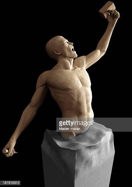 freiheit-statue - kunstskulptur stock-fotos und bilder